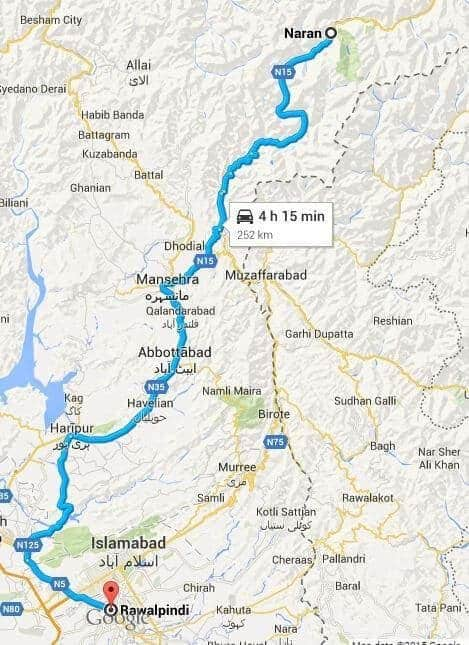 Rawalpindi to Naran