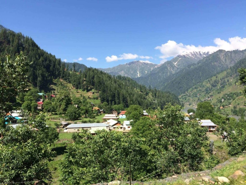 The view of Sharda from Sharda Peeth
